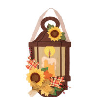 Fall Lantern Decorative Applique Door Decor
