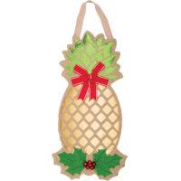 Gold Pineapple Christmas Decorative Applique Door Decor