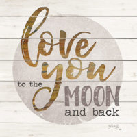 Love You To The Moon And Back Decorative Art Tile