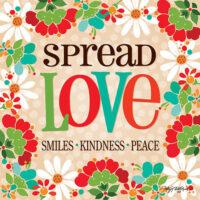 Spread Love Decorative Art Tile