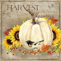 Harvest Blessings Thanksgiving Decorative Art Tile