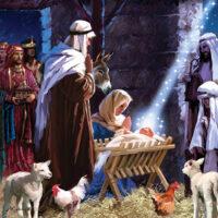 Jesus Nativity Christmas Decorative Art Tile