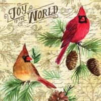 Joy To The World Christmas Decorative Art Tile