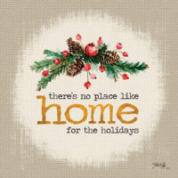 Home For The Holidays Christmas Decorative Art Tile