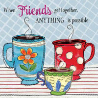 When Friends Get Together PVC Art Tile