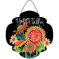 Happy Fall Flowers Decorative PVC Hang-Arounds Door Decor