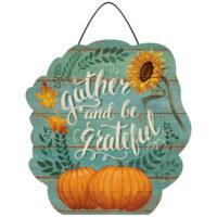 Gather and Be Grateful Thanksgiving Decorative PVC Hang-Arounds Door Decor