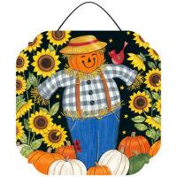 Sunflower Scarecrow Fall Decorative PVC Hang-Arounds Door Decor