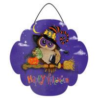 Halloween Owl Decorative PVC Hang-Arounds Door Decor