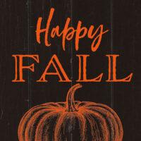Happy Fall Pumpkin Farmhouse Collection Decorative Art Tile