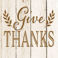 Give Thanks Thanksgiving Farmhouse Collection Decorative Art Tile