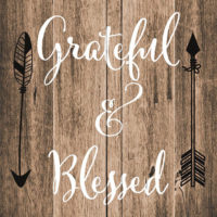 Grateful And Blessed Farmhouse Collection Decorative Art Tile