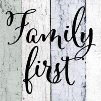Family First Farmhouse Collection Decorative Art Tile