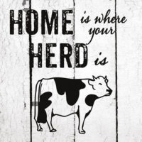 Home Is Where The Herd Is Farmhouse Collection Decorative Art Tile