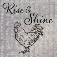 Rise And Shine Farmhouse Collection Decorative Art Tile