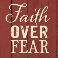 Faith Over Fear Farmhouse Collection Decorative Art Tile