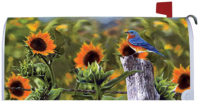 Bluebird Sunflowers Fall Decorative Mailbox Makeover