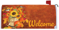 Chickadee Sunflowers Fall Decorative Mailbox Makeover