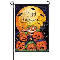 Happy Halloween Reversible Decorative Garden Flag