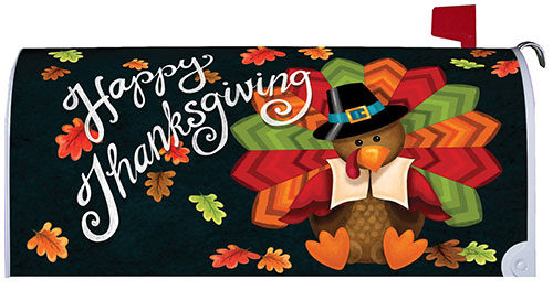Colorful Turkey Thanksgiving Decorative Mailbox Makeover