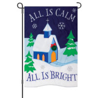 All Is Calm Christmas Double-Sided Decorative Applique Garden Flag