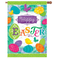 Easter Eggs Reversible Decorative House Flag