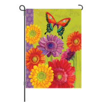Gerbera Butterfly Decorative Garden Flag