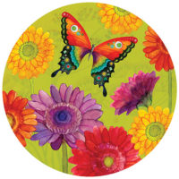 Gerbera Daisies Butterfly 6 Inch Decorative Accent Magnet