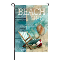 Beach Life Reversible Decorative Garden Flag