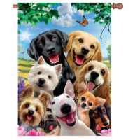 Dog Selfie Decorative House Flag