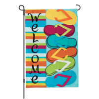 Flip Flops Welcome Double-Sided Decorative Applique Garden Flag