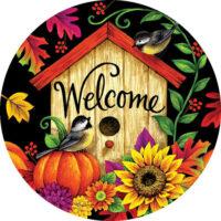 Fall Birdhouse Decorative Accent Magnet