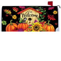 Fall Birdhouse Decorative Mailbox Makeover