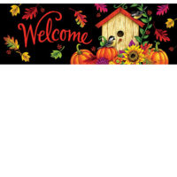Fall Birdhouse Decorative Signature Sign