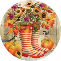 Welcome Boots Fall Decorative Accent Magnet