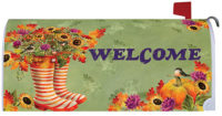 Welcome Boots Fall Decorative Mailbox Makeover
