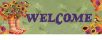 Welcome Boots Fall Decorative Signature Sign