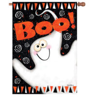 Boo Ghost Halloween Reversible Decorative House Flag