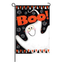 Boo Ghost Halloween Reversible Decorative Garden Flag