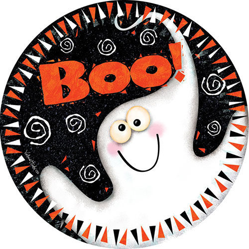 Boo Ghost Halloween Decorative Accent Magnet