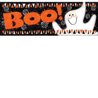 Boo Ghost Halloween Decorative Signature Sign