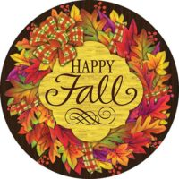 Fall Wreath Decorative Accent Magnet