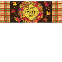Fall Wreath Decorative Signature Sign