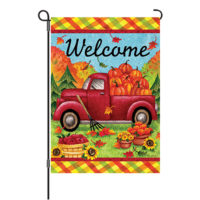 Red Fall Truck Reversible Decorative Garden Flag