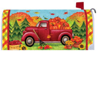 Red Fall Truck Decorative Mailbox Makeover