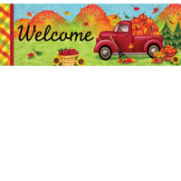 Red Fall Truck Decorative Signature Sign