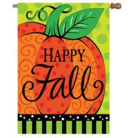 Whimsy Pumpkin Fall Reversible Decorative House Flag