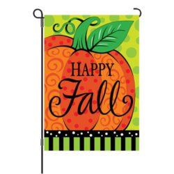 whimsy pumpkin reversible garden flag
