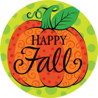 Whimsy Pumpkin Fall Decorative Accent Magnet