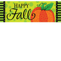 Whimsy Pumpkin Fall Decorative Signature Sign